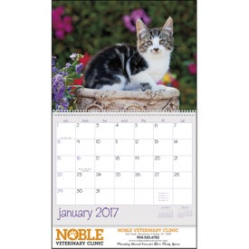 Kittens 12 Month Appointment Calendar Branded with Your Logo