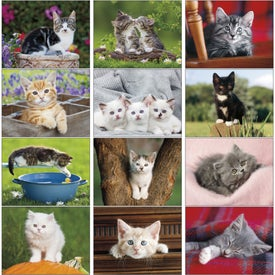 Kittens 12 Month Appointment Calendar with Your Slogan