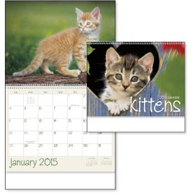 Kittens 12 Month Appointment Calendar Printed with Your Logo