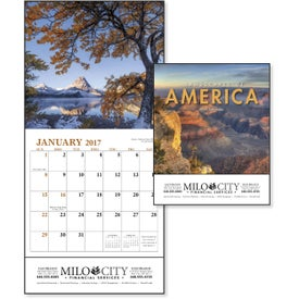 Monogrammed Landscapes of America Mini Calendar, English