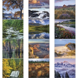 Landscapes of America Mini Calendar, English Giveaways