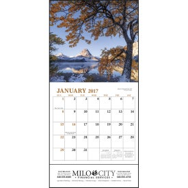 Landscapes of America Mini Calendar, English Branded with Your Logo