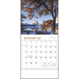 Landscapes of America Mini Calendar, English for Advertising