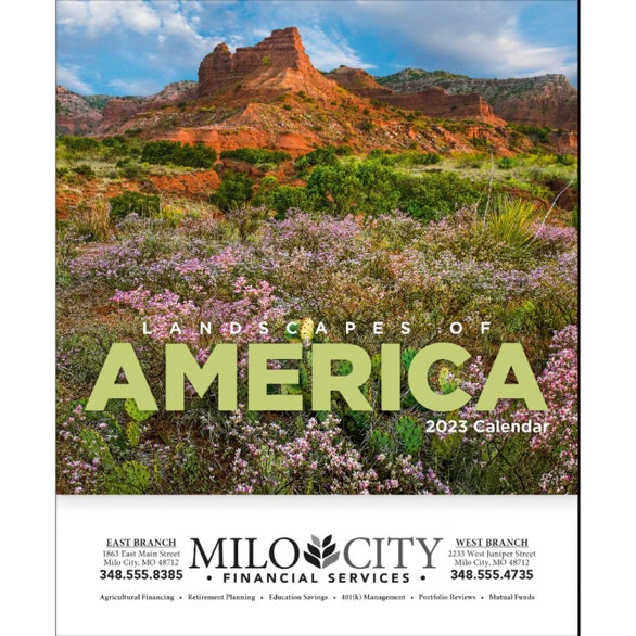 Landscapes of America Mini Calendar, English