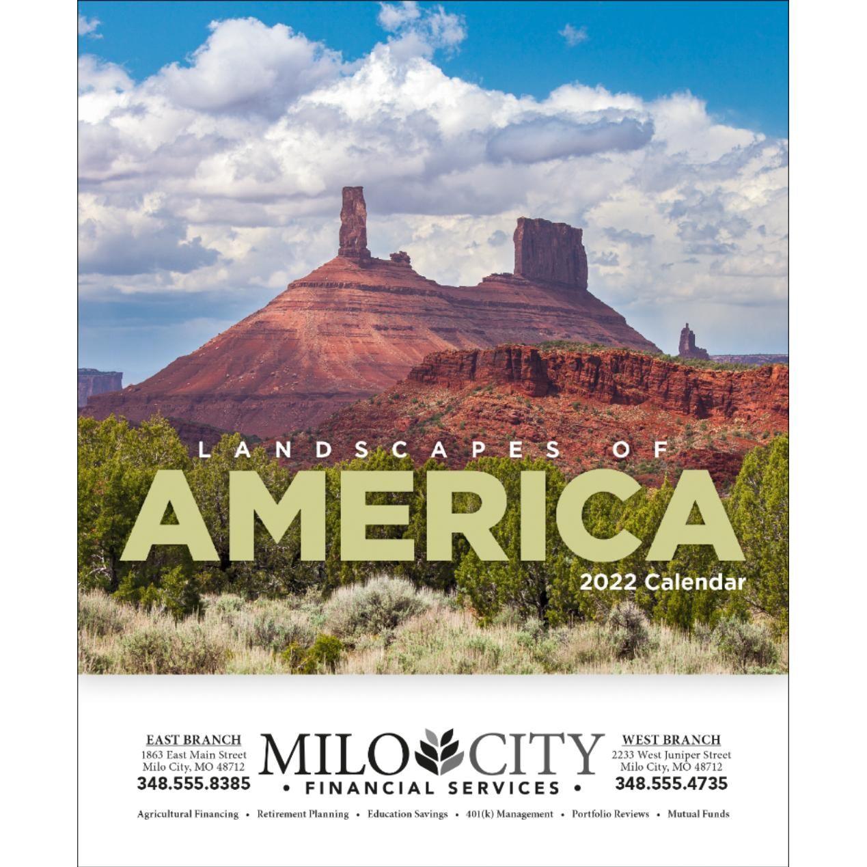 see item landscapes of america mini calendar english 2019 promotional