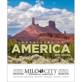 Imprinted Landscapes of America Mini Calendar, English