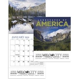 Imprinted Landscapes of America Mini Calendar, English