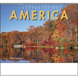 Landscapes of America Spiral Calendar, English for Marketing