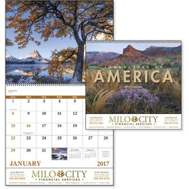 Landscapes of America Spiral Calendar, English for Your Church
