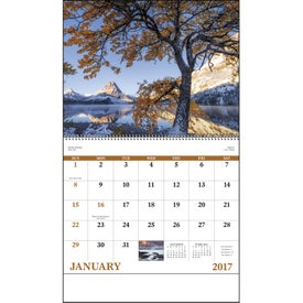 Advertising Landscapes of America Spiral Calendar, English