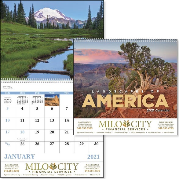 See Item Landscapes of America Calendar