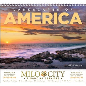 Customized Landscapes of America Spiral Calendar, English