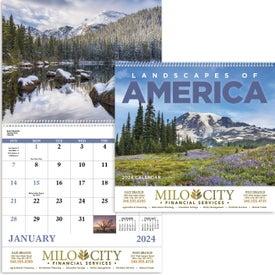Landscapes of America Spiral Calendar, English (2020)
