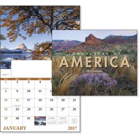 Landscapes of America Window Calendar, English Branded with Your Logo
