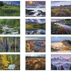 Landscapes of America Window Calendar, English for your School
