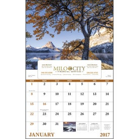 Promotional Landscapes of America Window Calendar, English