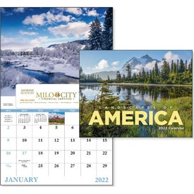 Landscapes of America Window Calendar, English (2017)