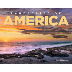 Imprinted Landscapes of America Window Calendar, English