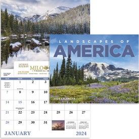 Imprinted Landscapes of America Window Calendar, English