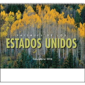 Personalized Landscapes of America Spiral Calendar, Spanish