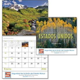 Landscapes of America Spiral Calendar, Spanish for Your Church