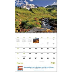 Landscapes of America Spiral Calendar, Spanish for Promotion