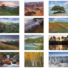 Personalized Landscapes of America Stapled Calendar, Spanish