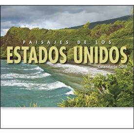 Branded Landscapes of America Stapled Calendar, Spanish