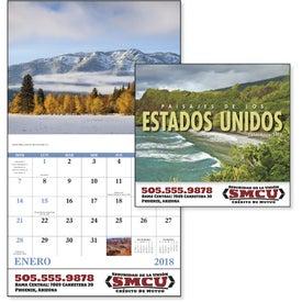 Landscapes of America Stapled Calendar, Spanish for Advertising