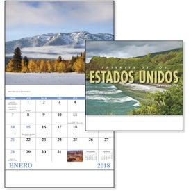Landscapes of America Stapled Calendar, Spanish for Customization