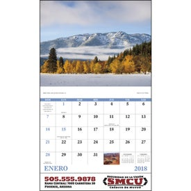 Landscapes of America Stapled Calendar, Spanish for Advertising