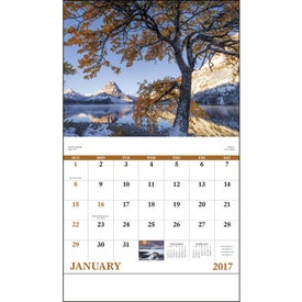 Customized Landscapes of America Stapled Calendar, English