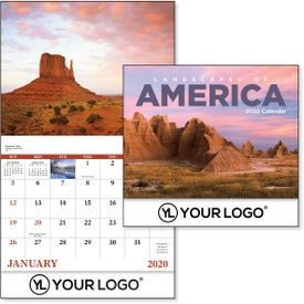 Landscapes of America Stapled Calendar, English (2020)