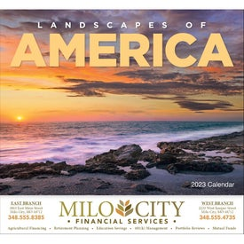 Landscapes of America Stapled Calendar, English (2014)