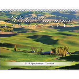Landscapes of American Spiral Bound Calendar for Promotion