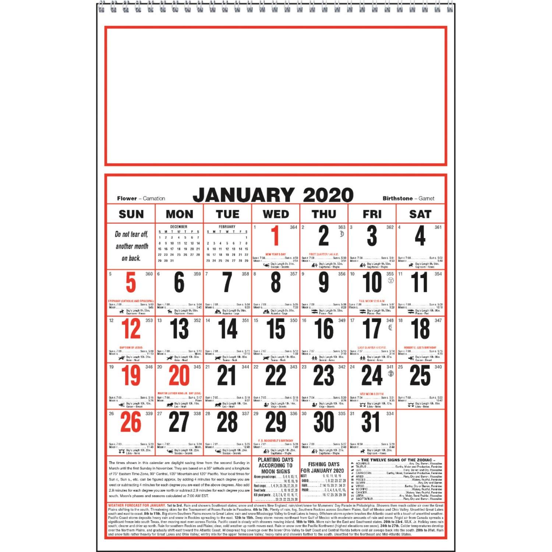 Almanac Calendar 2020 SAVE BIG on 2020 Large Almanac Calendars Printed with Your Logo