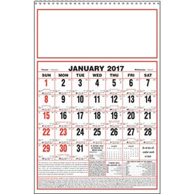 Personalized Large Almanac Calendar