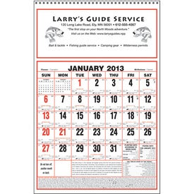 Large Almanac Calendar for Marketing