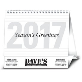 Large Econo Desk Calendar Printed with Your Logo