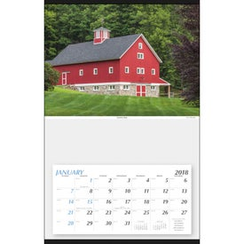Monogrammed Large Hanger Calendar