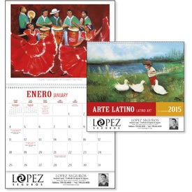 Latino Art Appointment Calendar with Your Logo