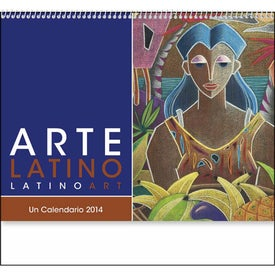 Latino Art Appointment Calendar with Your Slogan