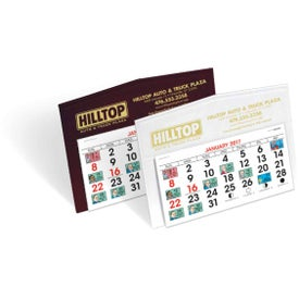 Legacy Desk Calendar with Your Slogan