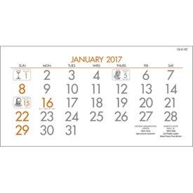 Imprinted Legacy Desk Calendar