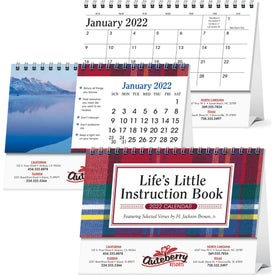 Life's Little Instruction Book Desk Calendar with Your Logo