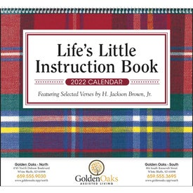 Lifes Little Instruction Book Calendar for Your Organization