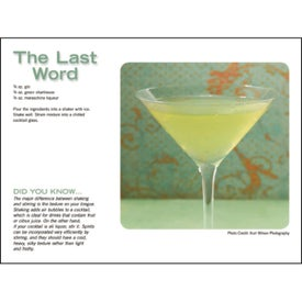 Imprinted Liquor Recipe Calendar