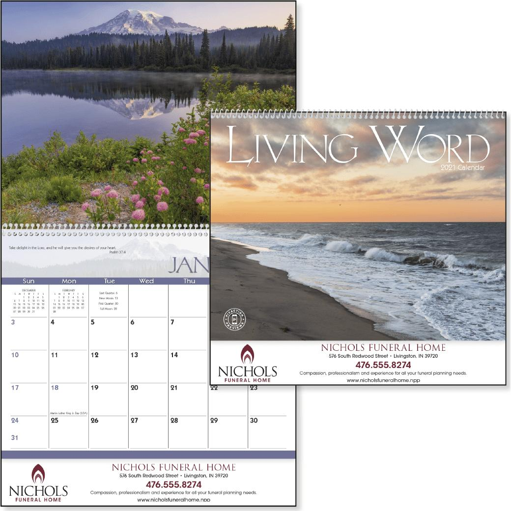 promotional nondenominational 2019 living word calendars with