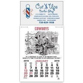 Magna Stick Cowboy Calendar Pad