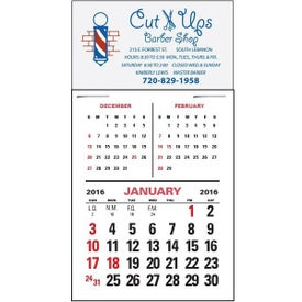 Customized Magna Stick Three Month Vertical Calendar Pad